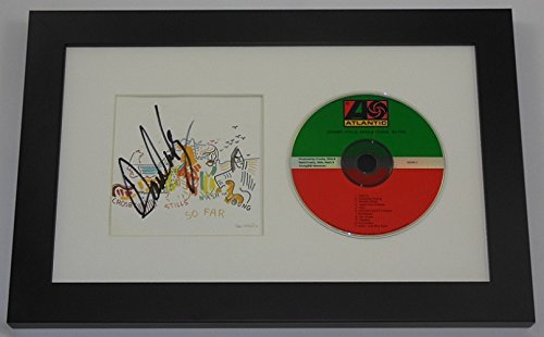 Crosby, Stills, Nash & Young CSNY So Far David Crosby Signed Autographed Music Cd Cover Compact Disc Framed Display Loa