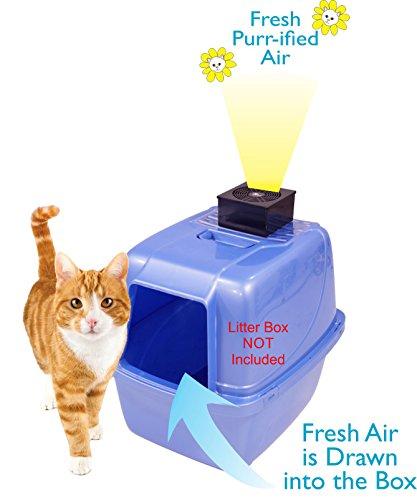 Purr-ifier Cat Litter Box Deodorizer - Odor Eliminator Filtration System