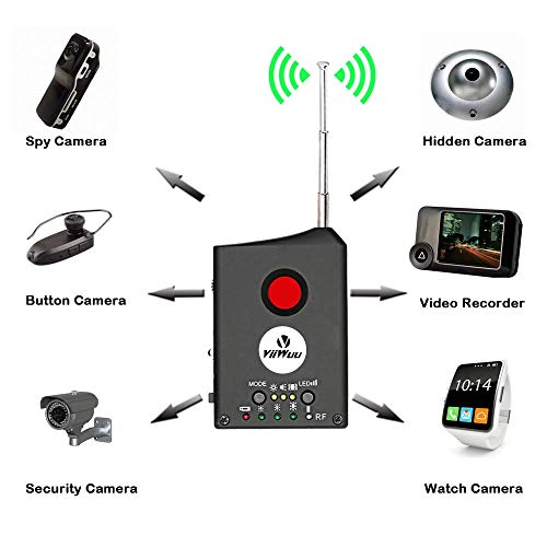 RF Signal Detector, Viiwuu Upgrate Spy Camera Detector Full Range Wireless Anti-Spy Bug Detector GSM GPS Tracker Device Finder FNR Full-Frequency Detector Audio Bug Detect Hidden Camera RF Detector
