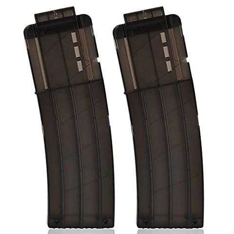Banana Clip, Peleustech 2PCS 15-darts Frosting Soft Bullet Clip Magazine Clips For Nerf N-Strike Elite Series - - Modelling Magazine