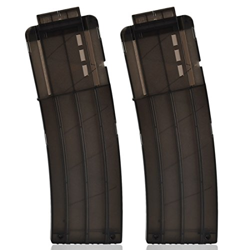 Banana Clip, Yamix 2 Pack 15-darts Quick Reload Clip Magazine Clip for nerf n strike elite blaster - Black