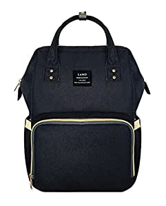 JOLLYCHIC LAND Large Capacity Diaper Bag Backpack for Baby Boys and Girls Travel Maternity Nappy Bag for Mom and Dad