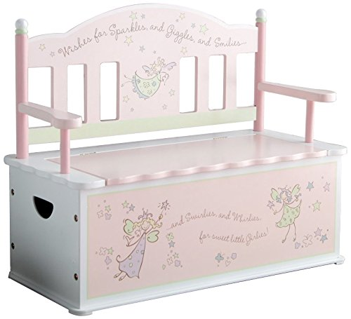 Wildkin Fairy Wishes Toy Box Bench