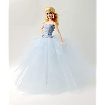 Cora Gu [Handmade Dress Fit for Barbie Doll] Handmade The Ice Dress (Dollsnot Included)