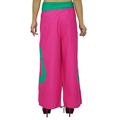 Las mujeres usan pantalones harén pantalones algodón elástico de la cintura de las mujeres usar pantalones India rose 1