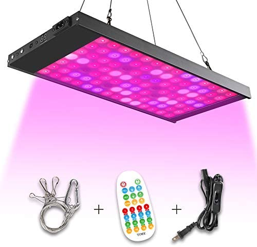Led Grow Light,300W 98 Led Growing Lamp Light Bulbs with Exclusive Full Spectrum for Indoor Plants Seedling Greenhouse Hydroponic Plants from Seeding to Harvest, Multiple Panels Connectable