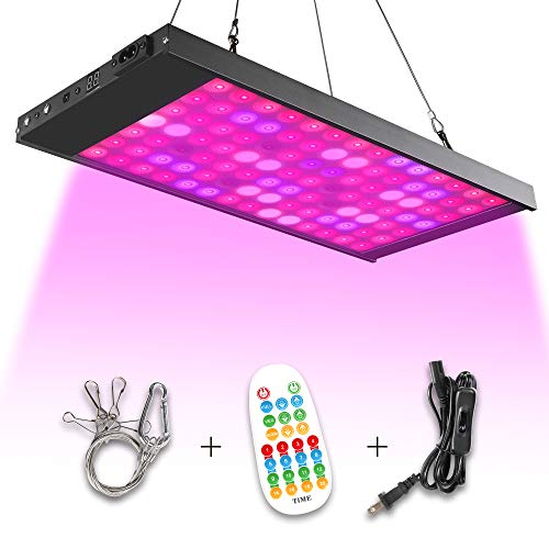 Led Grow Light,150W 98 Led Growing Lamp Light Bulbs with Exclusive Full Spectrum for Indoor Plants Seedling Greenhouse Hydroponic Plants from Seeding to Harvest, Multiple Panels Can Be Connected