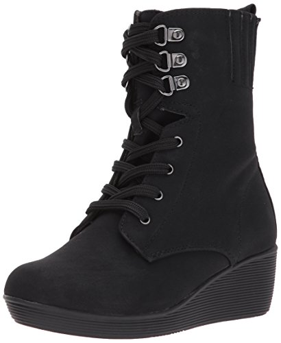 Rachel Shoes Girls' Burbank Fashion Boot, Black Suede, 2 M US Little - Burbank Kids