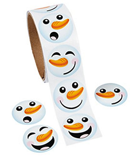 Fun Express Happy Snowman Face Stickers (200 Stickers Total)