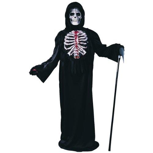 The Best Grim Reaper Costume (Bleeding Skeleton Child Costume (Large))