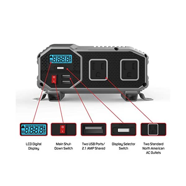 ENERGIZER-1100-Watt-12V-Power-Inverter-Dual-110V-AC-Outlets-Automotive-Back-Up-Power-Supply-Car-InverterConverts-120-Volt-AC-with-2-USB-Ports-24A-Each