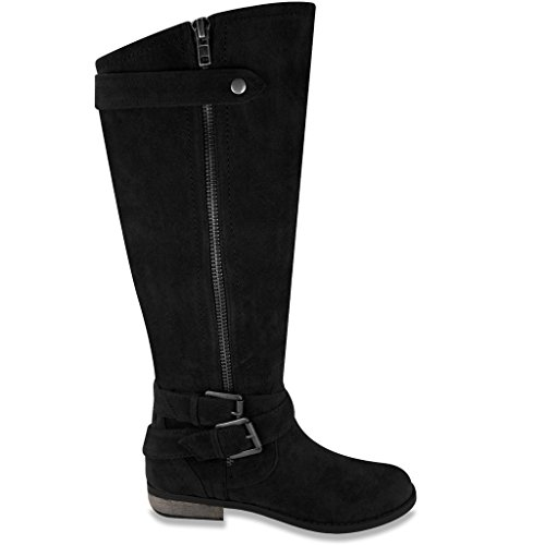 Image of Rampage Women's Hansel Zipper and Buckle Knee-High Riding Boot