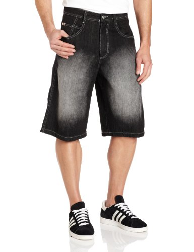 Southpole Men's Core Denim Short, Black Sand, (Southpole Black Jeans)