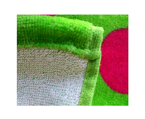 byLora 100/% Cotton Terry Polka Wrap Women/'s Bath Wrap Embroidery Available