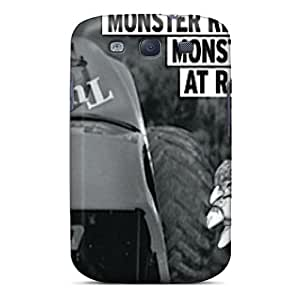 Premium Tpu Monster At Racetrack Covers Skin For Galaxy S3