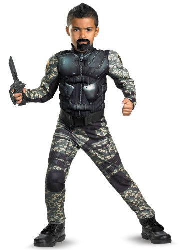 Roadblock Classic Muscle Costume - (Gi Joe Group Costume)