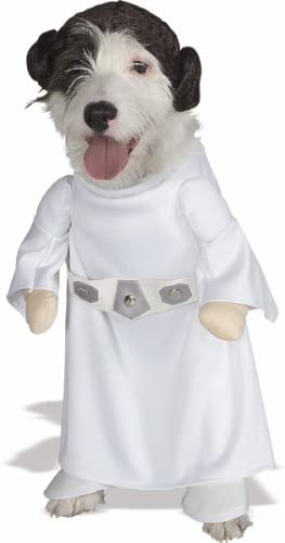 Amazon.com: Star Wars princesa Leia Disfraz de perro, M ...