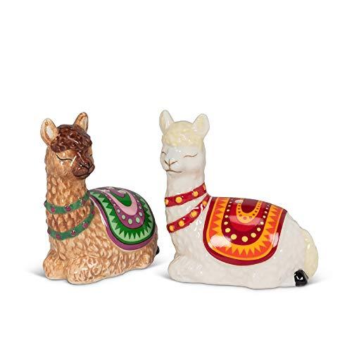 Abbott Collection 27-KITSCH-696 Resting Llamas Salt & Pepper-3