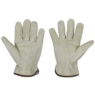 Premium Grain Goatskin Work Driver Gloves with Keystone Thumb, Lightweight & Durable