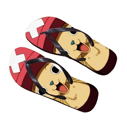 Bromeo One Piece Anime Unisex Flip Flops Chanclas 380
