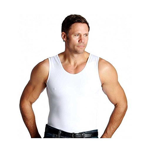 Insta Slim Muscle Tank Shirt - White - Medium