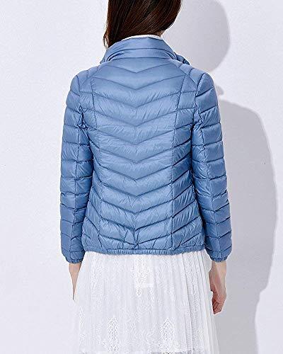 Col En Duvet Et Bleu Pour Légère Femme Montant Oudan Xl Taille coloré Veste Compressible SxXHww