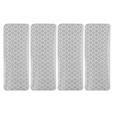 X AUTOHAUX Car Reflective Stickers Night Visibility Warning Rear Bumper Tape Universal Adhesive Decal for Auto Silver Tone 3 x 8cm 12pcs: Automotive