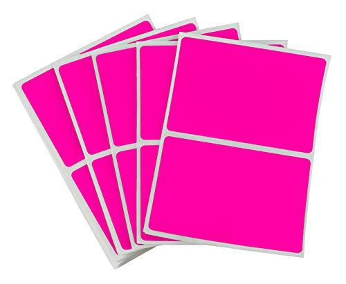 (ChromaLabel 2 x 3 inch Name Tag Stickers | 150 Labels/Pack (Fluorescent Pink))