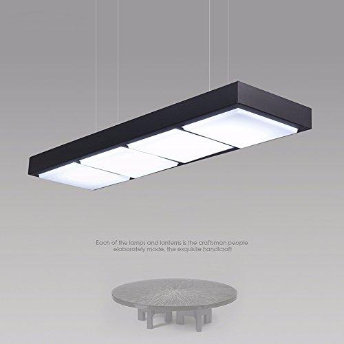 LED lámpara de larga oficina moderna araña araña restaurante comedor estudio creativo rectangular negro...