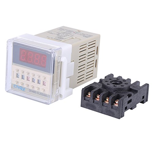 110V Time Relay AC DH48S-S 0.1s~99h Cycle Control Digital Display Time Relay with Base