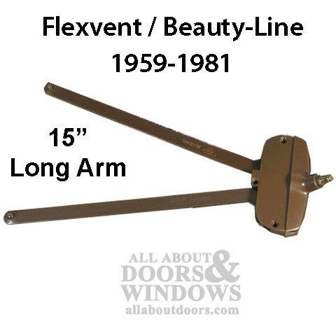 Andersen awning window Operator, Flexivent, Beauty-Line 15'' long arm - Bronze