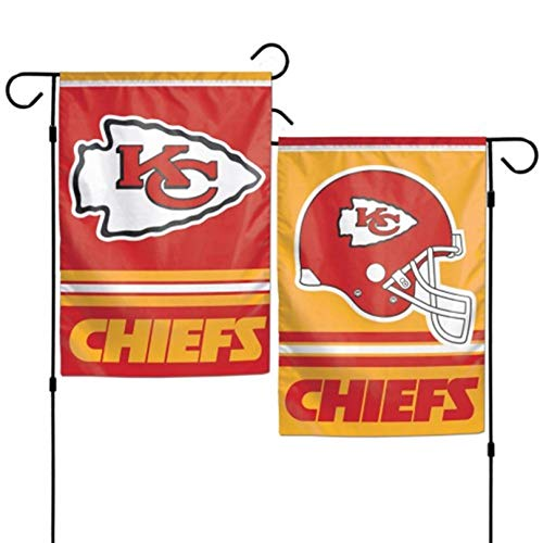 Two Sided Garden Flags - Stockdale Kansas City Chiefs WC Garden Flag Premium 2-Sided Outdoor House Banner Football