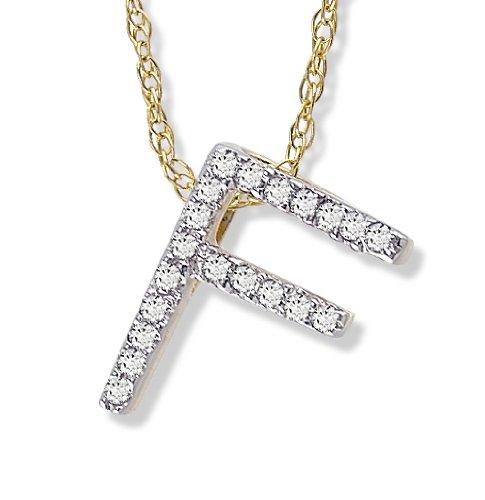 Diamond Initial Pendant F in 1