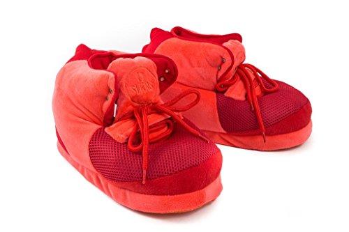 (SLKRS Sleakers by TY Lawson Unisex Sneaker Slippers Sneakerhead Edition (Medium - Men 4-7, Women 5-8, Red's))