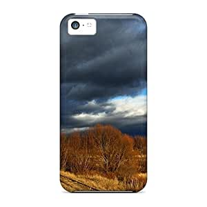 Awesome Train Tracks Thru Soldier Hollow In Late Fall Flip Cases With Fashion Design For Iphone 5c