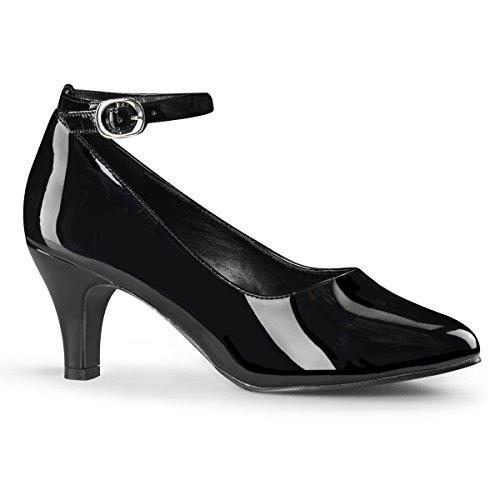 Pleaser Women's Divine-431W Pump,Black Patent,15 M US - Divine Ankle Strap Pumps