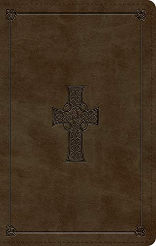The Holy Bible: English Standard Version, Large Print, Personal Size, Trutone, Olive, Celtic Cross Design