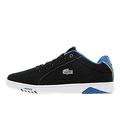 19ea271f0e8c Lacoste Deviation II SVR SPM Canvas Black Dark Blue Mens (UK 11 USA ...