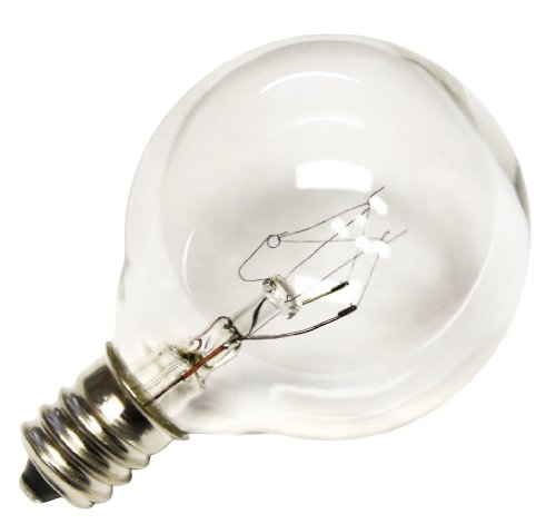 Deneve G40 Clear Glass Globe Bulbs with Candelabra Screw Base, Pack of 25 in the UAE. See ...