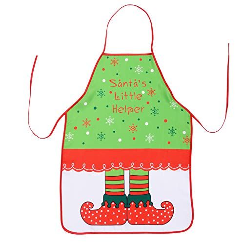TINGOR Christmas Funny Flirty Apron, Cute Adjustable Kitchen Chef Bib BBQ Cooking Aprons for Adult?Holiday Kitchen Apron Funny Creative Thanksgiving