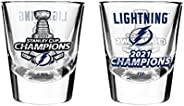 NHL Tampa Bay Lightning 2021 Stanley Cup Champions Shot Glass, 2-Pack