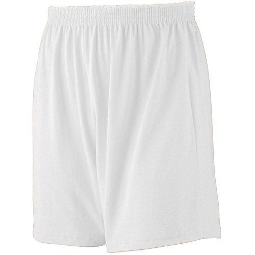 - Augusta Activewear Jersey Knit Short-Youth, White, Medium