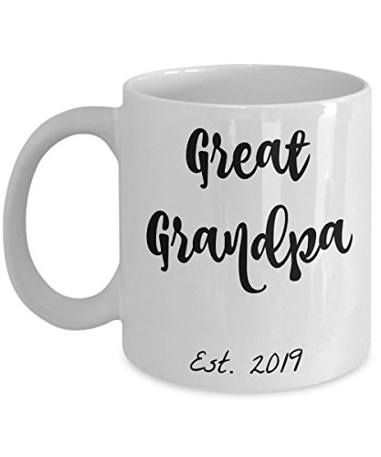 Great Grandpa Gifts - Best Great Grandpa Est. 2019 Mug - He Will Love This Mug Because He Just Got Promoted to Great Grandpa! 11 oz Coffee Mugs Are Best Baby Reveal Gift for Him (Great Grandpa)