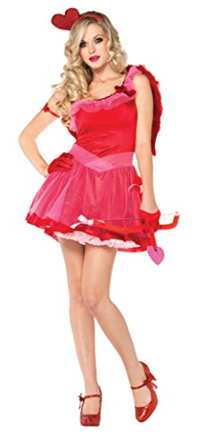 Sexy Cupid Costumes (Leg Avenue Womens Kiss Me Cupid Matchmaker Outfit Fancy Dress Sexy Costume, XS (0-2))