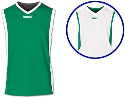 Luanvi - Camiseta Team Reversible 05127/05125, Verde/Blanco, M: Amazon.es: Deportes y aire libre