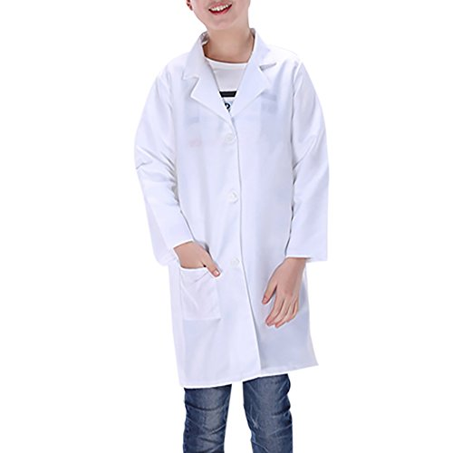 [TopTie Childrens White Lab Coat Kids Doctor Costume WHITE-56] (Dr Love Costume)