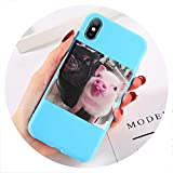 Soft Silicon Cover for iPhone 6 7 8 Plus X XR XS Max Cartoon Pig Love Cases for iPhone 6 6S Plus Soft Back Cover Coque,T5,for iPhone SE