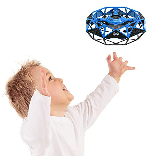 Hand Operated Mini Drone, Rodeo UFO Flying Ball Toys: Hand Controlled RC Quadcopter Covered with 6 Infrared Sensors, Small Kids Helicopter Multi Players Party Game UFO for Boys or Girls