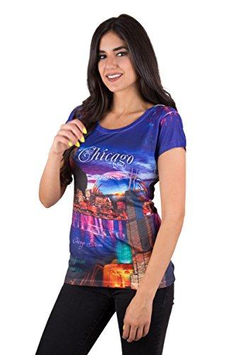 Sweet Gisele Chicago Skyline Womens Souvenir Printed T Shirt