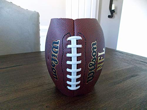 Decorative Football Vase for Flowers, Floral Arrangements, Centerpiece, Table Decor, Super Bowl Party Decoration, Coach Gift, Birthday, School, Sports Themed Parties, Events, Banquets, Handmade